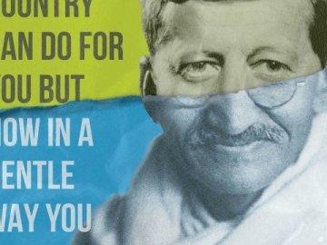 JFK Gandhi, World Affairs Council, Brunet-García, Print, 2019